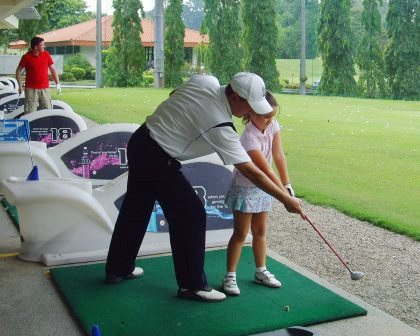 how to teach children golf